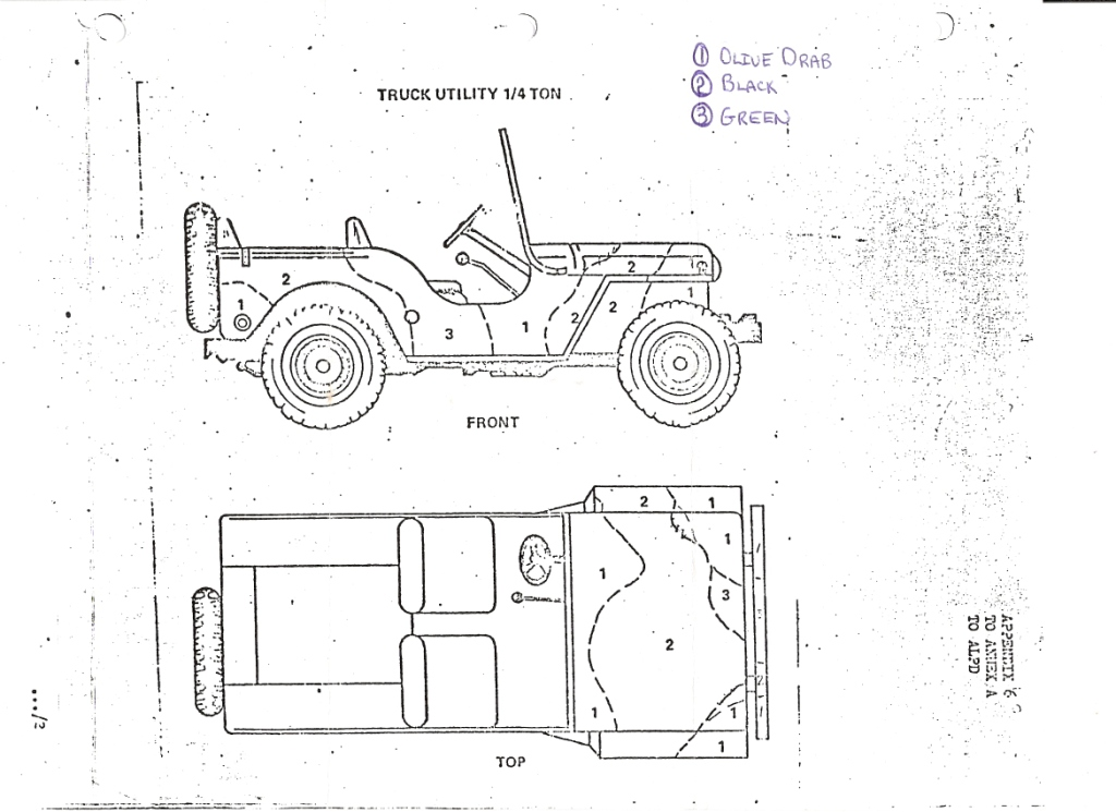 Cfto M38a1 Cdn2 And M100 Trailer Camo Paint Pattern